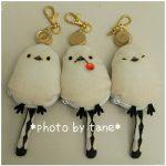 【フェリシモ】雪の妖精・シマエナガのキーポーチが鍵の番をしてくれる/手のひらサイズのシマエナガグッズ♪