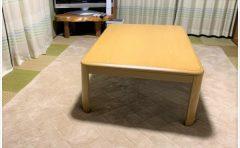 「こたつの敷布団がずれる」から解放~!!厚み4cmで生活音もセーブ!しかも洗える♪我が家のお気に入りのこたつ敷き布団♪